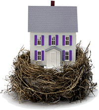 image of a nest with a house in it